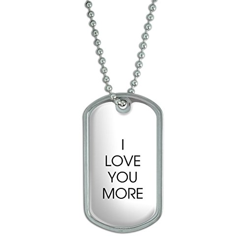 Love You More Military Keychain
