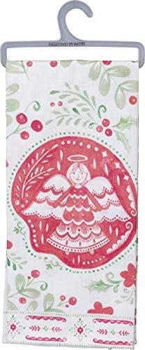 Primitives by Kathy Farmhouse Style Dish Towel, Angel