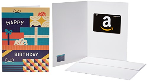 Amazon.com $25 Gift Card in a Greeting Card (Birthday Packages Design) ()