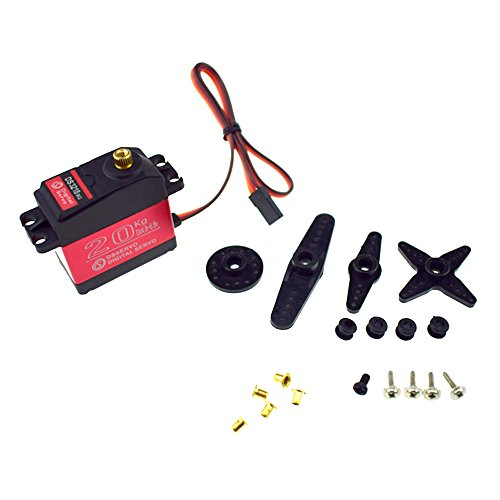 ZOSKAY Waterproof servo 20KG Large Torque Digital Coreless Servo for RC Car Crawler RC Boat Helicopter RC Mode(servo 180 degree)