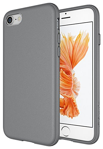 [iPhone 7 Case, Diztronic Full Matte Soft Touch Slim-Fit Flexible TPU Case for Apple iPhone 7 (Matte Alloy Gray)] (Alloy Matte)
