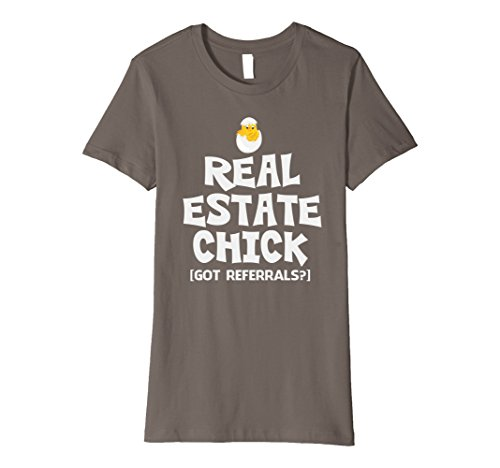 Buy cheap womens real estate chick got referrals funny property sales shirt large asphalt