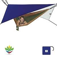 Hammock Bliss All Purpose Waterproof Shelter - Carpa impermeable para carpa, Rain Fly y Hammock Shelter Para cubrir su hamaca y su equipo - Haga de Hammamp Camping una experiencia seca y sin lluvia