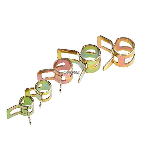 TOLOVI 50Pcs 5/6/7/8/9mm Spring Clip Fuel Line Hose Water Pipe Air Tube Clamps Fastener -