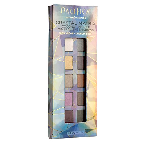 Pacifica Beauty 10 Well Eye Shadow, Crystal Matrix, 0.2 (Crystal Palette)