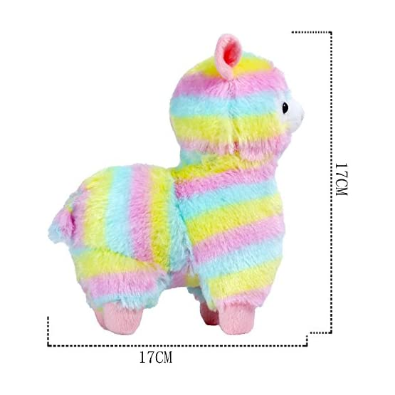 Rainbow Alpaca Plush | 6.7 Inches | Alpacasso Plushies 3