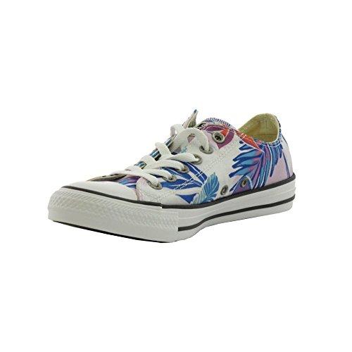 Converse Ctas Ox, Sandalias con Plataforma para Mujer Multicolor (Fresh Cyan/magenta Glow/white)