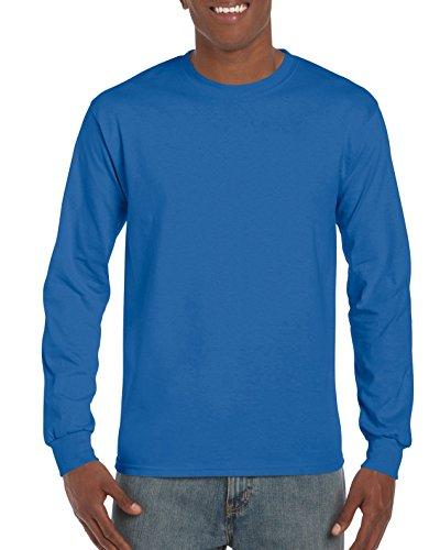 Gildan Men's Ultra Cotton Jersey Long Sleeve Tee, Royal -