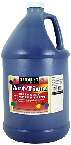 128 Ounce Blue Art-Time Washable Tempera Paint, Gallon, 1 Gallon - Sargent Art 17-3650