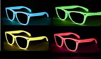 Nerd Glow Gafas Leuchten en noche varios. Colores (perlado Klarglas B4–3)