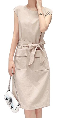 linen belted dress - 7