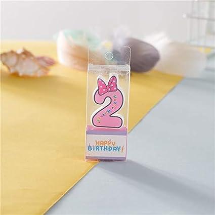Amazon.com: Vela de cumpleaños con número de velas con ...