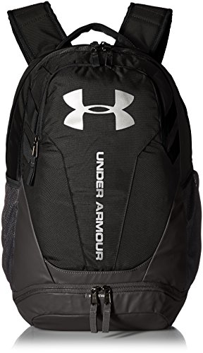 Under Armour Hustle 3.0 Backpack, Black (001)/Silver, One Size Fits All