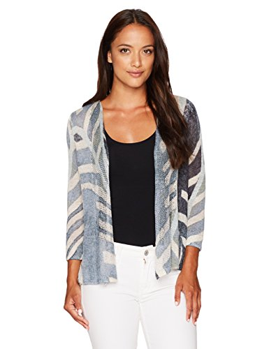 NIC+ZOE Women's Petite Size Shore Pine Cardy, Multi, PS by NIC+ZOE