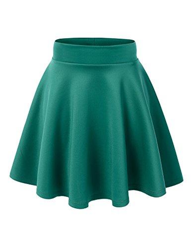 MBJ WB669 Womens Basic Versatile Strechy Flare Skater Skirt M Jade ()