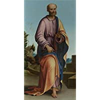 fan products of Polyster Canvas ,the High Quality Art Decorative Prints On Canvas Of Oil Painting 'Lorenzo Costa Saint Peter ', 24 X 46 Inch / 61 X 117 Cm Is Best For Bedroom Decor And Home Gallery Art And Gifts