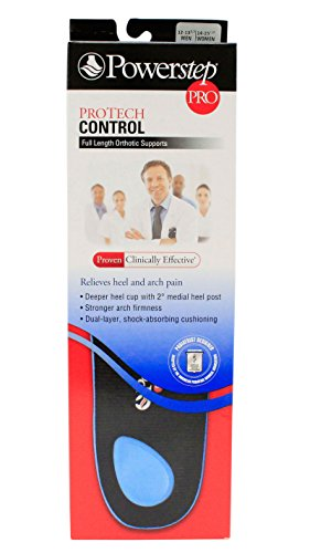 Powerstep Protech Control Full Length size: IJ - M12-13.5 or - Powerstep Insoles Length Full