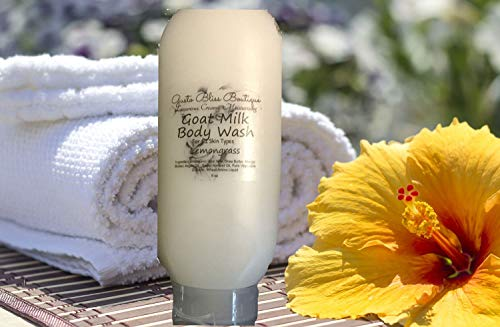 (Goat Milk Body Wash Shower Soap Creamy Moisturizing Luxurious Natural Organic 8 oz Un-scented or Scented Liquid Soap )
