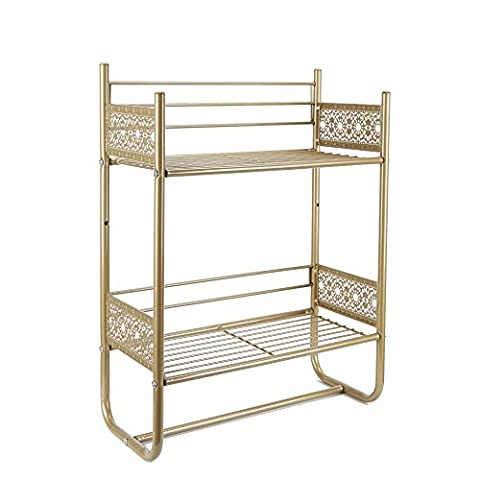 Silverwood BS1151-Gld-Com Wall Shelf, Gold (White And Gold Shelves)