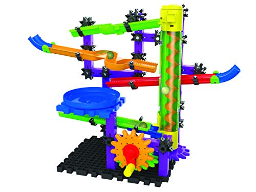 - The Learning Journey Techno Gears Marble Mania - Zoomerang - 80+Piece Stem Construction Marble Maze with Corkscrew LIFTER