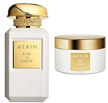02ee9446bb Amazon.com : AERIN Rose de Grasse Body Cream 6.5 oz and AERIN Rose de  Grasse Parfum 1.7 oz. : Beauty