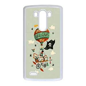 LG G3 Cell Phone Case White_Let Your Dreams Fly Grpbp