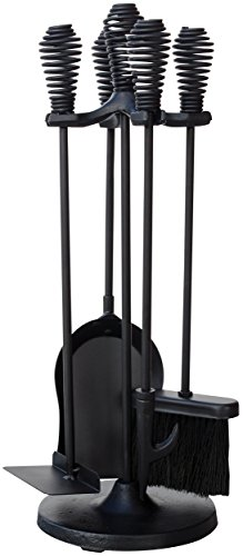 UniFlame 5-Piece Black Stoveset with Spring Handles