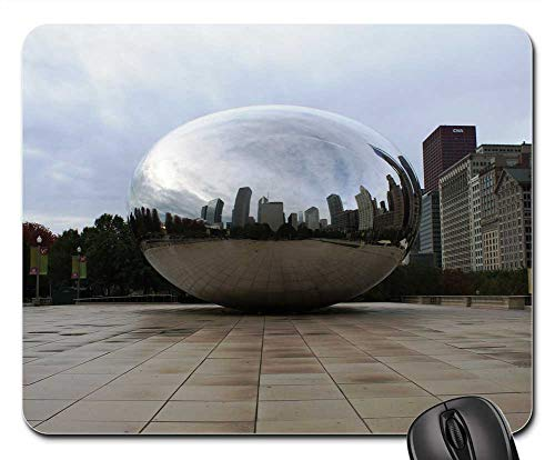 Mouse Pads - Bean Daylight Windy City Chicago Bean Day Skyline -