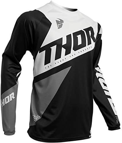 Bleu//Vert Taille M Thor Maillot Cross Adulte Sector Blade