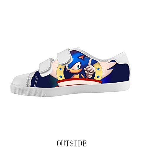 Velcro Kid's Canvas Shoes Sonic the Hedgehog for Boy 3M US (Sonic The Hedgehog Sneakers)