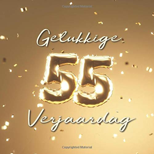 Betere Gelukkige 55e Verjaardag: Gastenboek voor de Verjaardag TZ-63