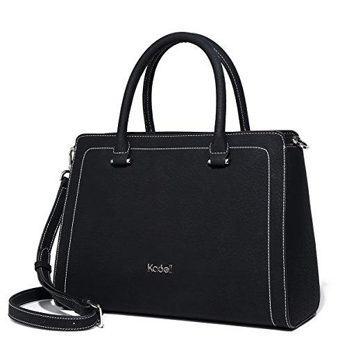 Kadell Borse a tracolla della borsa di totalizzatore della borsa del progettista delle signore delle borse delle donne leggere Grigio Nero1