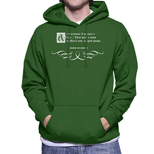 Loves Labours Lost Shakespeare Christmas Quote Men's Hooded Sweatshirt