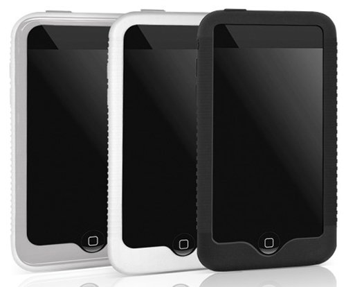 Ipod 3g Hard Skin (Macally Silicone Sleeve Case 3-Pack for iPod touch 2G, 3G (Clear/White/Black))