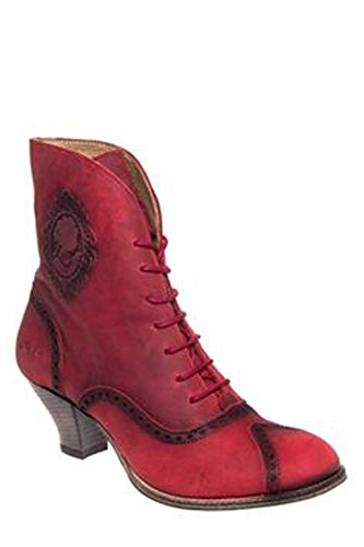 Dkode Kvinna Quenby Fotled Spets-up Boot Red
