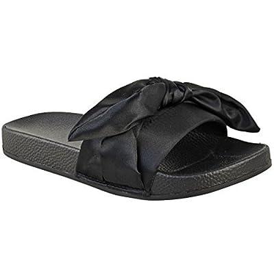 Sandales plates/nu-pieds femmes - noeud décoratif/satin - confortables - été