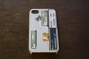 (197wi5) Pokemon Battle Apple iPhone 5 White Case Gameboy Charmander Squirtle Kimberly Kurzendoerfer