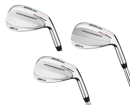 Wilson 52° 56° & 60° Men`s RH Harmonized Silver Chrome Wedge Golf Club Set