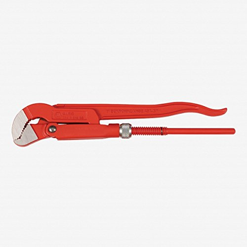 1.5' Pipe (Wiha 32970 Pipe Wrench, Heavy Duty 45-Degree S-Jaw 1.5-Inch, Length 12.6-Inch)