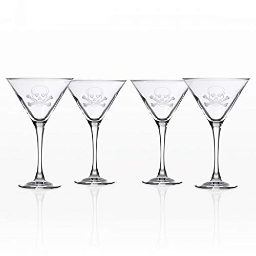 Rolf Glass Skull and Cross Bones Martini 10oz, Set of 4 Glasses by Rolf Glass (Image #3)