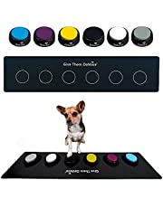 DaVoice Dog Buttons for Communication, Dog Talking Button Set, Talking Buttons for Dogs, Includes 6 Dog Training Buttons with Mat, Communication Board for Dogs Cats Pet, Recordable Buttons for Dogs