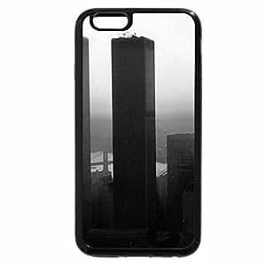 iPhone 6S Case, iPhone 6 Case (Black & White) - World Trade Center Sunset