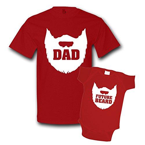 The Shirt Den Dad Beard Future Beard Shirts Matching Father Son Shirts Bodysuit Clothing True Red