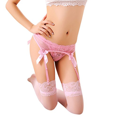 Buy garter belt set pink
