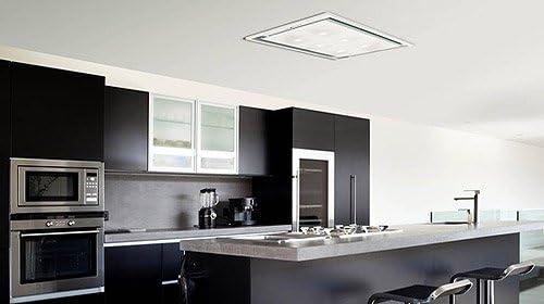 Anzi Luxair Slimline Celiing para campana extractora en color blanco 1200 m³ / con luces LED HR: Amazon.es: Hogar
