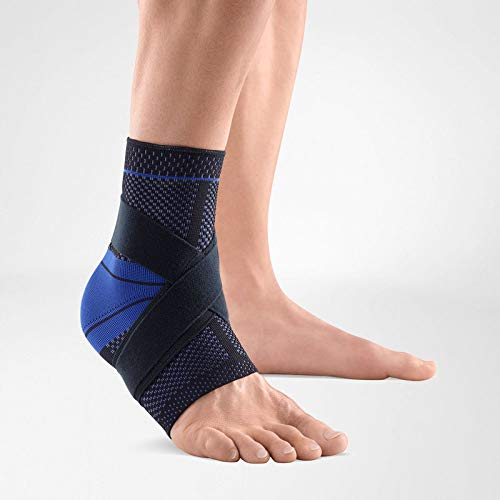 Bauerfeind - MalleoTrain S - Ankle Support - The Ankle Support You Need Doing Physical Activity - Left Foot - Size 4 - Color Black