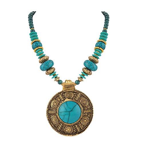 Zephyrr Fashion Tibetan Handmade Beaded Pendant Necklace for Women ()
