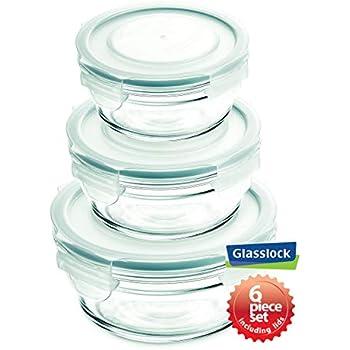 Glasslock 11214 Round Oven Safe Container Set (6-Piece)