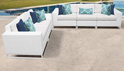 TK Classics MIAMI-05h Miami Seating Outdoor Furniture, Sail White (Miami Furniture Patio Clearance)