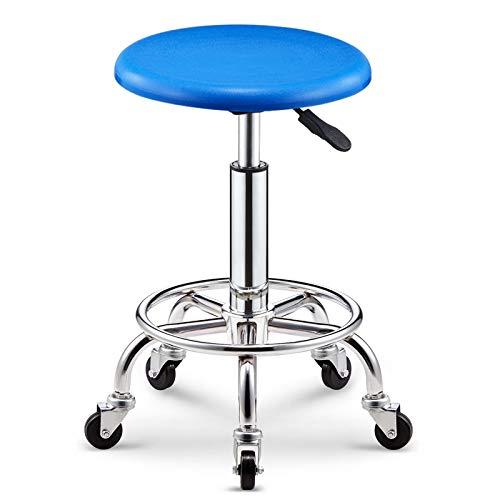 bluee single 43-55cm WEIYV-Chairs & Stools, Bar Table Chair Lifting redate Backrest Chair High Stool Bar Stool Beauty Stool Household Fashion Creative Round Stool (color   Black 38-50cm)